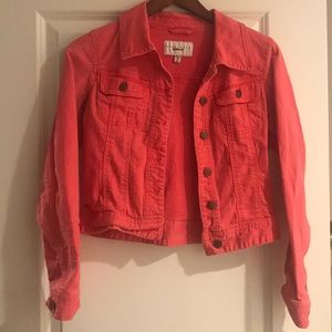Red coral Sanctuary Jean Jacket